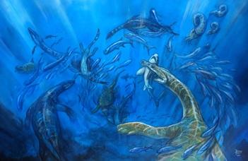 Változatos tengeri őshüllők Villányból